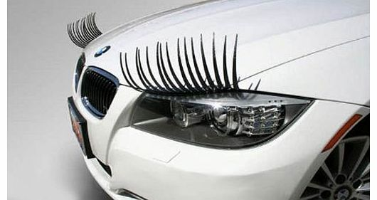 Car Eyelashes + Extra Strip of 3M Decal Tape - Commodities Online UK