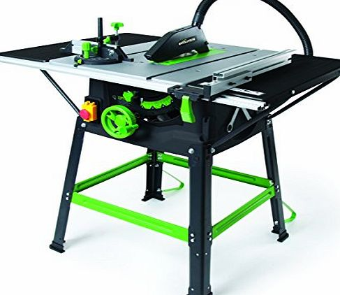 Evolution 056-0001 Fury5-S 230 V Multi-Purpose Table Saw, 255 mm - Green