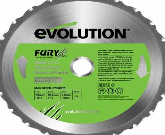 Evolution Fury Multipurpose Blade 255 mm
