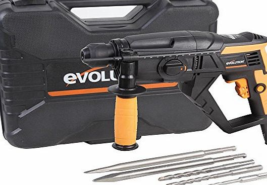 EVOLUTION (POWERTOOLS) SDS4-800 SDS HAMMER DRILL 4-FUNCTION 230V New