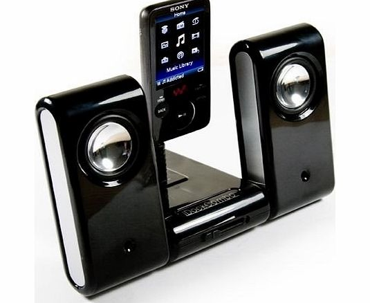 E-volve MP3 Vibe-Dock Home portable speaker system compatible with (Sandisk Sansa Fuze Fuze+ / Clip / Clip + / Connect , ClipZip Zip / View / E200 Kubik Evo Edge Sweex / E250 / E260 / E270 / E280)