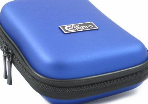 Ex-Pro Blue Hard Clam Shock proof water resistant Digital Camera Case Bag CR9106F for Panasonic Lumix DMC-FP5, FP7, FT3, FT3, FT10, FX70, FX75, FX700, FX800, LX5, S5, SZ7, TS3, T30, TZ5, TZ6, TZ7, TZ