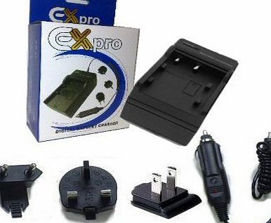 Ex-Pro Canon LP-E5, LPE5 Digital Camera Battery Travel Charger, UK, USA, Canada amp; Europe - 2 Hour Fast Charge - for Canon :- EOS 450D, EOS 500D, EOS 1000D, EOS Rebel T1i, EOS Kiss X2, EOS Rebel Xs