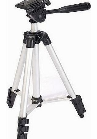 DigiPod TR-130S Professional Photographic Camera / Camcorder Tripod (350mm - 1060mm) 40`` Travel Tripod, Spirit Level, Fast Install (Suitable for Nikon Coolpix, Canon, Casio Exilim, Fuji Finepix