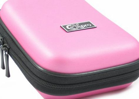Ex-Pro Pink Hard Clam Shock proof water resistant Digital Camera Case Bag CR90510J for Sony Cyber-Shot DSC-J10, H55, H70, H90, HX5, HX9, HX7V, HX10V, T11, TX20, TX55