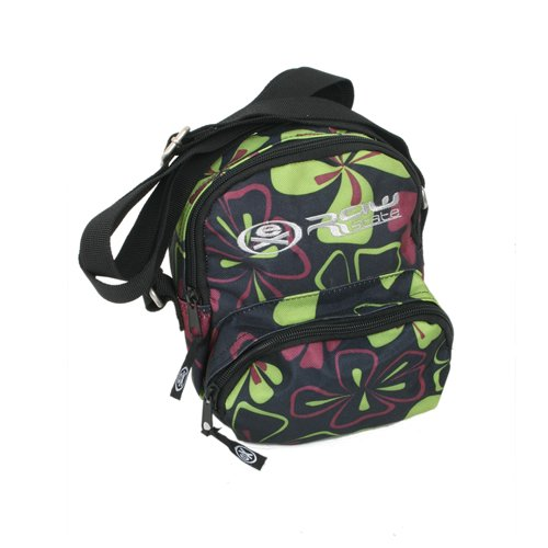 Ladies Ex Raw State Hula Shoulder Bag Black / Green Print