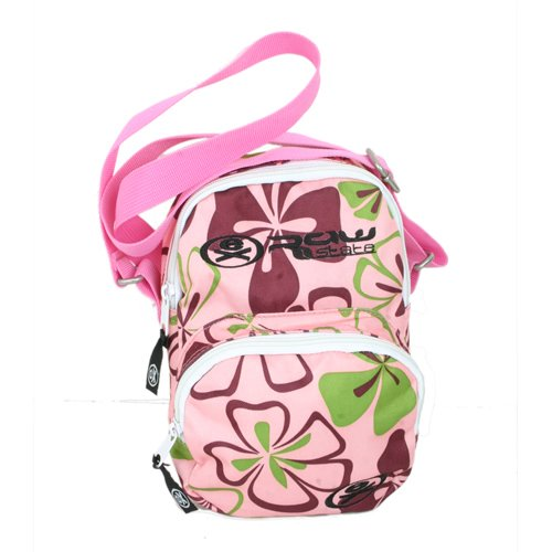 Ladies Ex Raw State Hula Shoulder Bag Pink Print