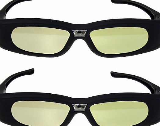 Excelvan Top Quality 2X 3D Active Rechargeable Shutter DLP-Link Projector Glasses for BenQ Dell Samsung Optoma Sharp ViewSonic Mitsubishi DLP-Link Projector, 2PCS Brand New 3D active DLP-Link glasses