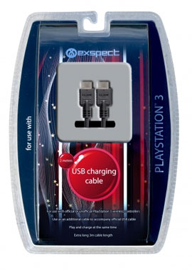 USB Play & Charge Cable for PlayStation 3
