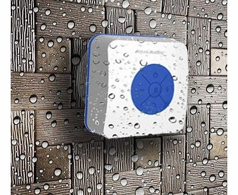 AquaAudio Cube - Mini Ultra Portable Waterproof Bluetooth Wireless Stereo Speakers with Suction Cup for Showers, Bathroom, Pool, Boat, Car, Beach, Outdoor etc. | For All Devices with Bluetooth Capabil