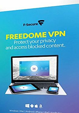 F-Secure Freedome VPN Online Privacy Protection Retail Box (1 Year, 3 Devices) (Mobile Only) (PC/Mac/Android)