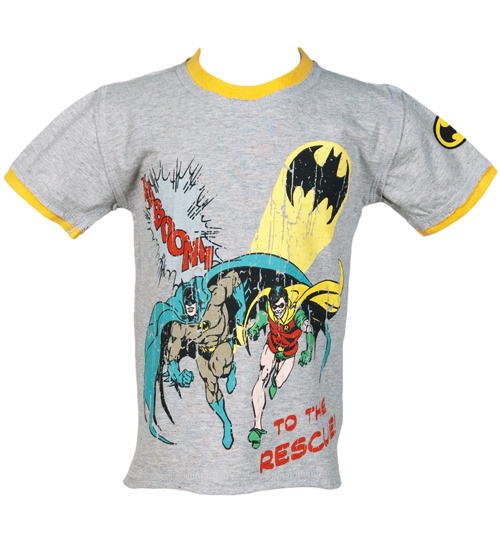 Kids Kaboom Batman And Robin T-Shirt from Fabric