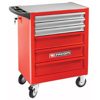 6 Drawer Red Economy Roll Roller Cabinet