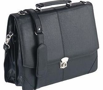 BD-2584, Flapover Briefcase, Black
