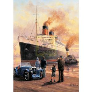 Queen Mary Evening Departure 1000 Piece Jigsaw Puzzle