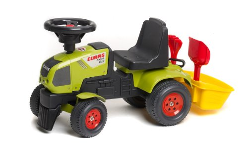 1012A Childrens Ride-On Vehicle Claas Axos Tractor with Bucket and Accessories