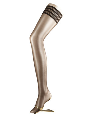 Ladies 1 Pair Falke Diamond 10 Ultra Transparent Hold Ups In 3 Colours Cigar