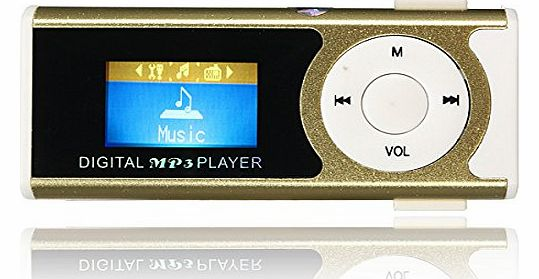 MP3 Player Music Audio Mini USB Clip LCD Screen Support Lyrics Synchronization Micro SD TF Card With LED Light by FamilyMall