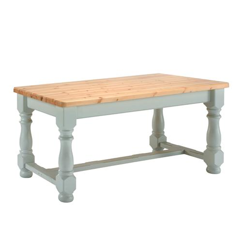 Farmhouse Painted Dining Table 6ft Sky Blue Review Compare
