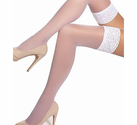 FashionLegs  white hold ups 20 denier S1 (SMALL)