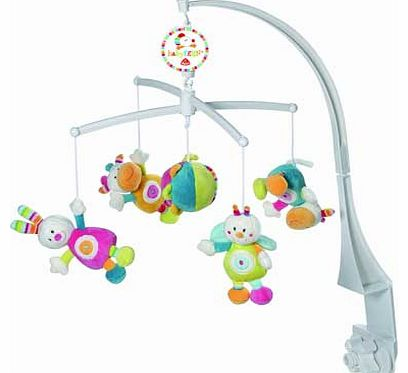 70s Stripes Musical Baby Mobile