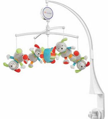 Holiday Musical Dogs Baby Mobile