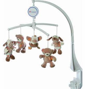 Rainbow Musical Baby Mobile - Brown