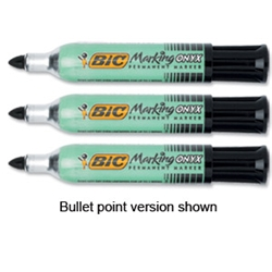 BiC ONYX 1481 Mini Permanent Marker Black Pack 12