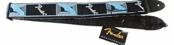 Guitar Strap Monogrammed 2 Black / Light Grey / Blue