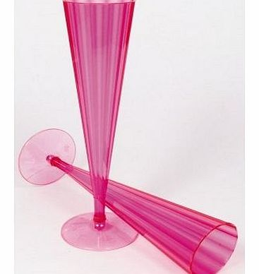 Champagne Flutes Neon Pink Fancy Dress - 12891/18