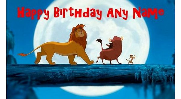 The Lion King Blue Personalised Birthday Card