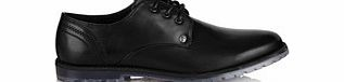 Tyson black laced derby shoes