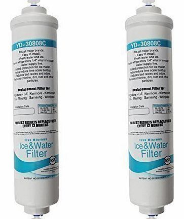 DD7098 Water Filter Cartridge For Daewoo American Style Fridges & Freezers Pack of 2