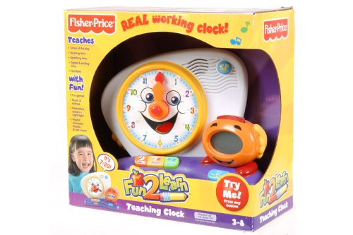 Fisher price fun 2 learn teaching clock uk educational toy review
