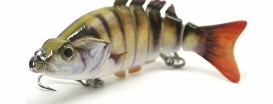 FISHIN ADDICT PERCH Swimbait Multi Jointed Fishing Lure realistic perch jack pattern and swim action for pike, perch, zander and bass 83mm 12 grams