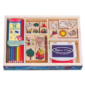 Flair Melissa and Doug Deluxe Stamp Set