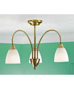 florence 3 light antique brass ceiling fitting ceiling