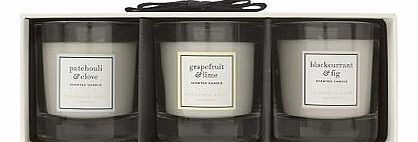 e Fragrance Mini Scented Candle Trio