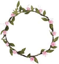 Hair Wreath - Mini Rose - Pink