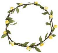 Hair Wreath - Mini Rose - Yellow