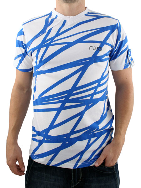 White/Electric Blue To and Flo T-shirt