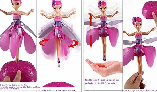 Flutterbye like Flying Flower Fairy Rechargeable Flying Barbie Fairy Toys Electronic Flying Flower Toy Battery Operated