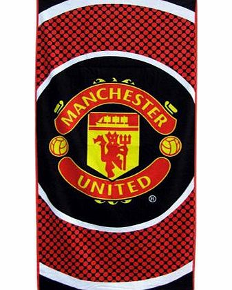 Forever Collectibles Man Utd Bullseye Large Velour Beach Towel - One Size