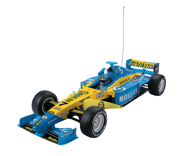 1 Racing Car Blue and Yellow