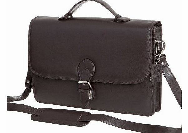 High Quality Mens Ladies Leather Business Briefcase Brief Case Black Brown (Dark Brown)
