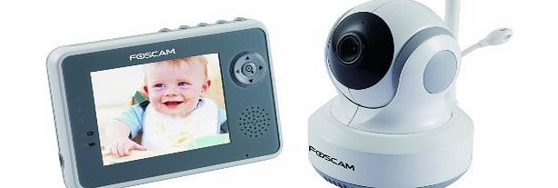 Foscam FBM3501 Digital Video Baby Monitor - 2.4 Ghz with Pan/Tilt, Nightvision and Two-Way Audio/Video Came