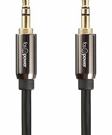 3.5mm Stereo Jack to Jack Audio Cable - 24K Gold Plated - High Quality - Male to Male Stereo Aux Cable for Apple iPhone, iPod, iPad, Samsung, LG, HTC, Motorola, Sony Android Smartphones &amp