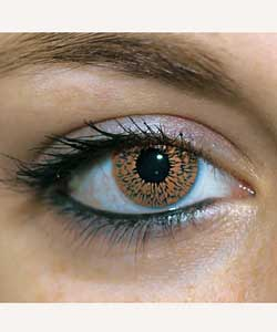foureyez cosmetic fashion lenses brown contact lense