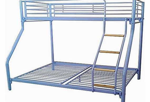 New Purple Metal Triple Children Kids Sleeper Bunk Bed Frame No Mattress Double Bed Base Single On Top With Wood Ladder
