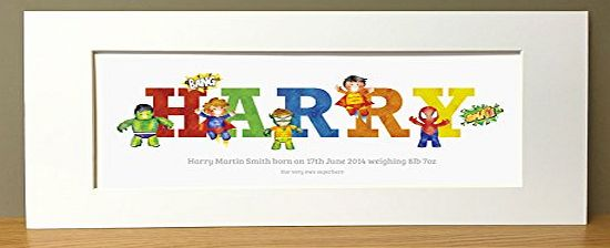 Framemyname Superhero Boys Personalised Name Prints - gifts for boys
